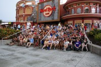 CHSO on the steps of Hard Rock