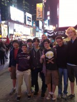 CHSO members at Times Square